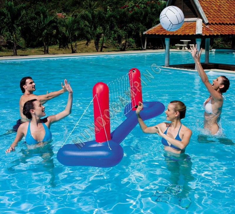 Juego de voley inflable bestway mundo camping - Red voley piscina ...