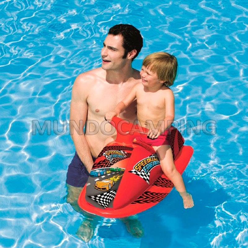 Moto de agua inflable bestway infantil mundo camping for Piletas redondas inflables carrefour