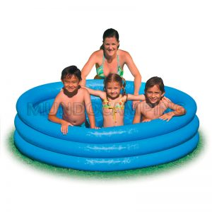 Pileta inflable intex 3 anillos 168cm mundo camping for Piletas infantiles intex