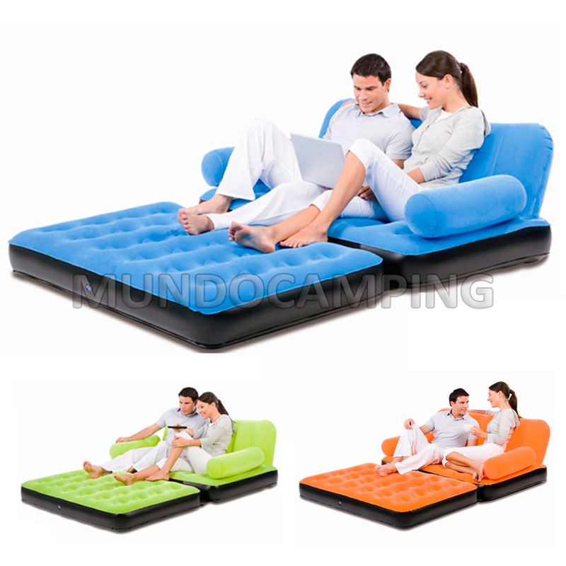 Sillon inflable bestway doble cama 2 en 1 mundo camping for Sofa cama inflable