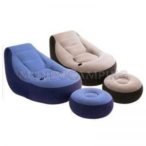 Sillon inflable intex con puff mundo camping - Colchones inflables camping ...